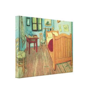 Vincent's Bedroom in Arles, van Gogh, Vintage Art Stretched Canvas Print
