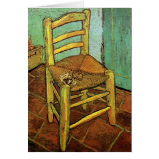 Vincent's Chair with His Pipe by Vincent van Gogh Card