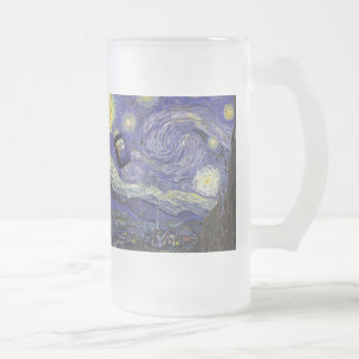 Vincent's Horizons Frosted Glass Beer Mug