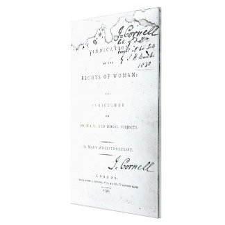Vindication of the Rights of Woman' Canvas Print