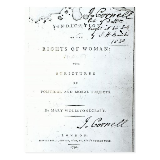 Vindication of the Rights of Woman' Postcards