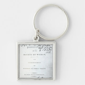 Vindication of the Rights of Woman' Silver-Colored Square Key Ring