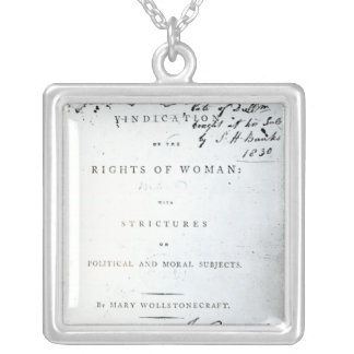 Vindication of the Rights of Woman' Silver Plated Necklace