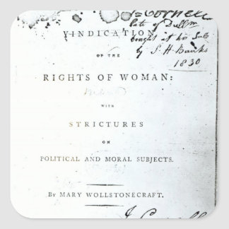 Vindication of the Rights of Woman' Square Sticker