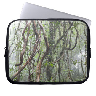 vine and branches twisted in rainforest laptop sleeve