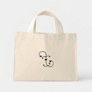 Vine and Leaf Designed Tiny Tote Bag