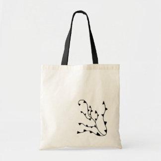 Vine and Leaf Designed Tote Bag