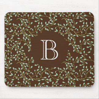 Vine and Leaves Pattern Mousepad
