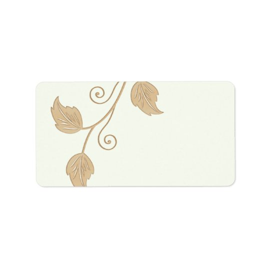 Vine and Leaves Wedding Blank Address Labels