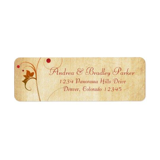 Vine Berries Fall Wedding Return Address Return Address Label