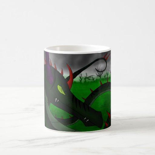 Vine Dragon White Mug