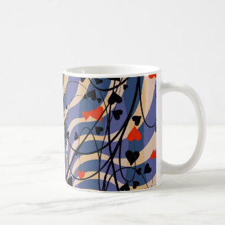 vine floral pattern coffee mug