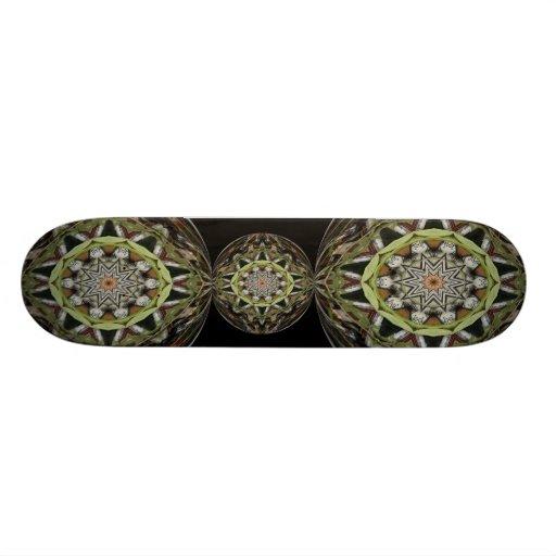 Vine Globe Kaleidoscope Skateboard