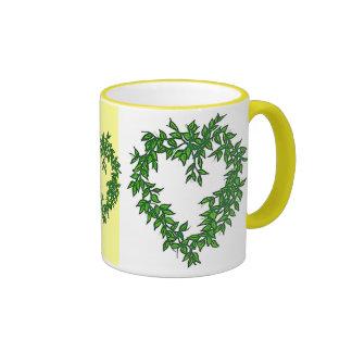 Vine heart ringer mug