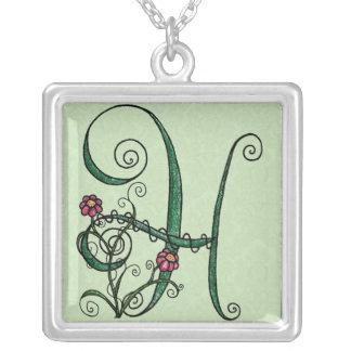'Vine Letter H' Necklace