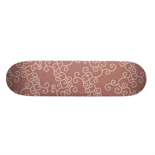 Vine Pattern reds 2 Skateboard Deck