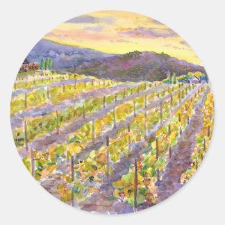 Vine Round Sticker