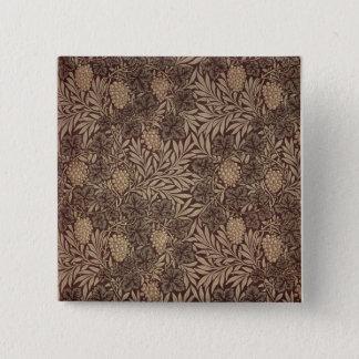 'Vine' wallpaper design, 1873 15 Cm Square Badge