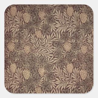 'Vine' wallpaper design, 1873 Square Sticker