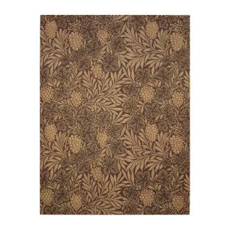 'Vine' wallpaper design, 1873 Wood Print