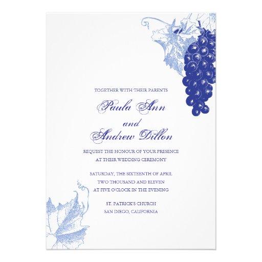 vine wedding invitation zazzlecouk With la d vine wedding invitations
