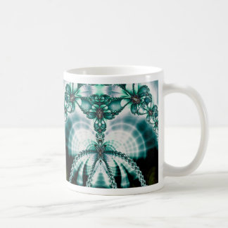 vined butterfly gate basic white mug
