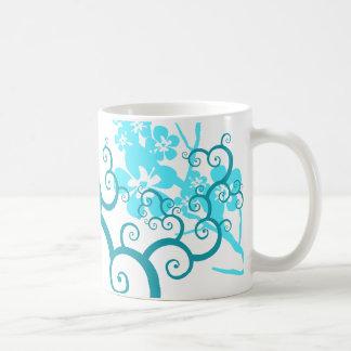Vines and flowers basic white mug