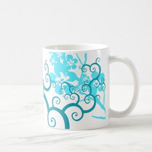 Vines and flowers coffee mug