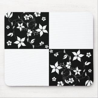 VINES CHECKERBOARD (a black & white design) ~ Mouse Pad