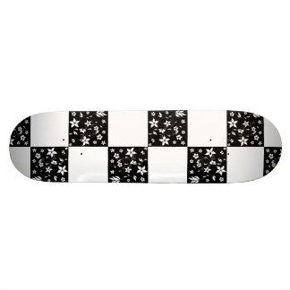VINES CHECKERBOARD (a black & white design) ~ Skateboards