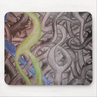 Vines- hand drawn mouse pad