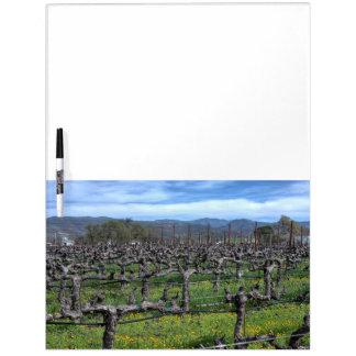 Vines In Winter Napa California Dry-Erase Whiteboards