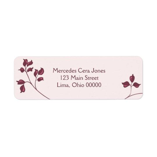 Vines Return Address Labels