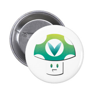 Vinesauce Mushroom 6 Cm Round Badge