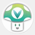 Vinesauce Mushroom Round Sticker