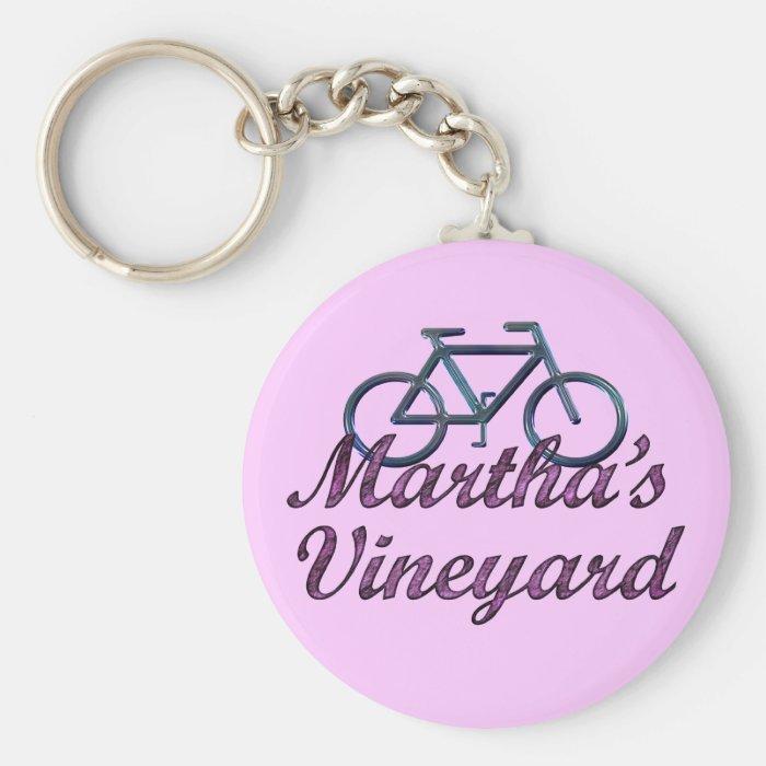 Vineyard Bicycle Keychain