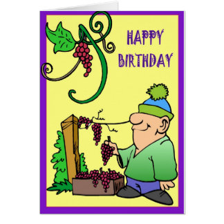 Vineyard Collection, Grapes in hand Card