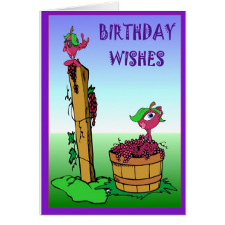 Vineyard collection, Happy Birthday Card