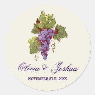 Vineyard Grape Wedding Stickers