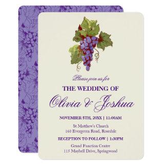 Vineyard Grapes Wedding Invitations