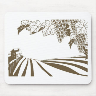 Vineyard Grapevine Farm Illustration Mousemats