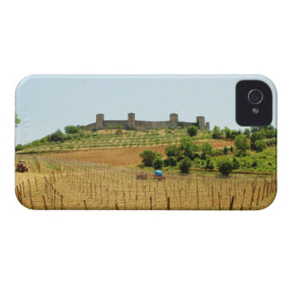 Vineyard in front of a fort, Monteriggioni, iPhone 4 Case-Mate Cases