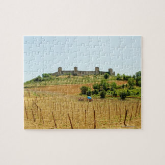 Vineyard in front of a fort, Monteriggioni, Jigsaw Puzzle
