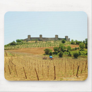 Vineyard in front of a fort, Monteriggioni, Mouse Pad
