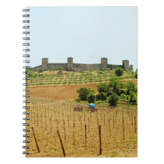 Vineyard in front of a fort, Monteriggioni, Notebook