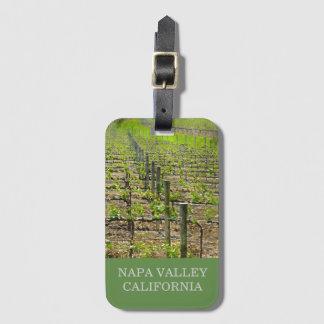 Vineyard in Napa Valley California Luggage Tag
