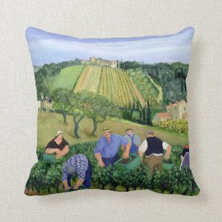 Vineyard Olives and Sunflowers Cushion