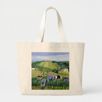 Vineyard Olives and Sunflowers Large Tote Bag
