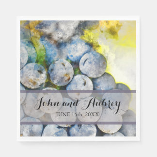 Vineyard or Winery Wedding Personalized Napkins Disposable Napkin