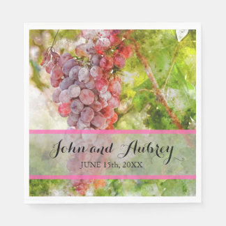 Vineyard or Winery Wedding Personalized Napkins Paper Napkin